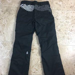Volcom Komichi Transition Ski Snow Pants XS Black